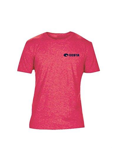Costa Del Mar Malibu T Shirt   Red Heather   2Xl