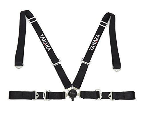 Tanaka Black 4-point Camlock Racing Harness Seat Belt One Set (Takata Racing Harness compare prices)