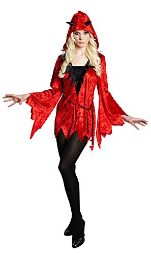 Karneval Klamotten Teufel Kostum Damen Sexy Teufelin Rot Schwarz