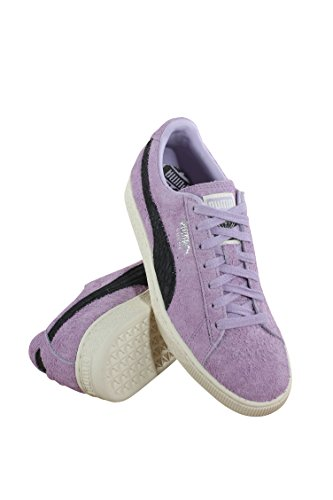 Black PUMA Bloom Up Puma Mens Sneakers Lace Diamond Black Orchid Suede Shoes wUURE