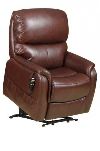 Montreal Dual Motor Riser Recliner Chair Mobility Lift Rise Armchair - Chestnut