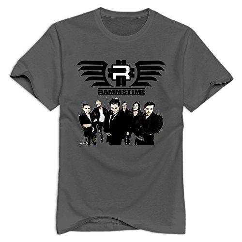 TWSY Men's Rammstein T-Shirt DeepHeather US Size S,100% Organic Cotton