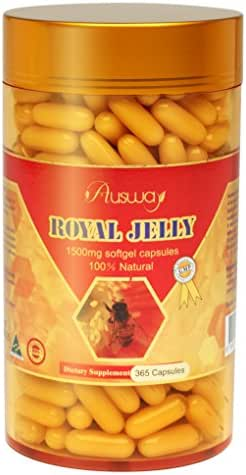 Ausway 100% Natural Royal Jelly 1500mg Soft gel 365 Capsules, GMP. Made in Australia