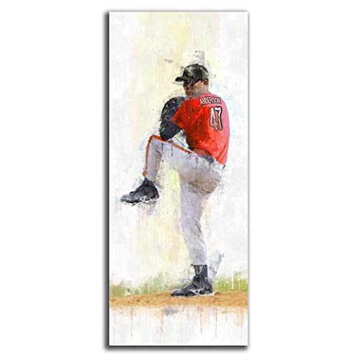 - Personalized Baseball Pitcher Sports Action Print - Gift for The Baseball Player (6.5