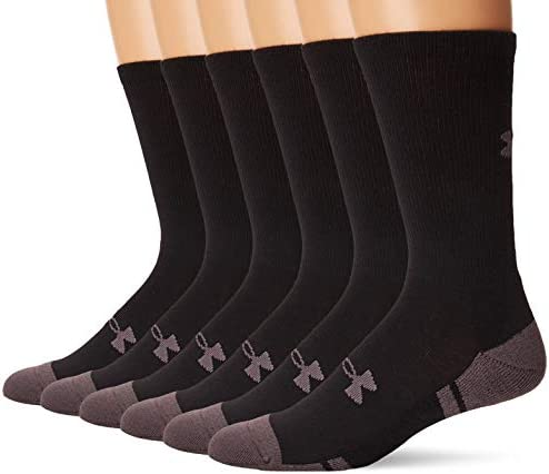 Under Armour Adult Resistor 3.0 Crew Socks, 6-Pairs