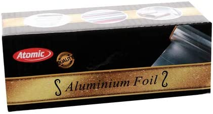 Atomic - Papel de aluminio precortado con agujeros, 12 m x 12 cm (100 hojas)