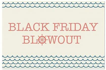 Black Friday Blowout 5-Pack Nautical Wave Window Cling 27x18 CGSignLab