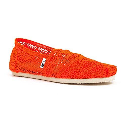 Womens Coral Classics Neon Crochet Morocco Crochet TOMS Black zOFxw6dFq