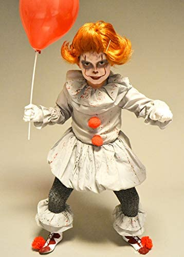 Magic Box Disfraz de Pennywise Gray It Clown Style con Peluca para ...