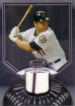 2007 Bowman Sterling Baseball #BS-LB Lance Berkman Game Worn Jersey Card
