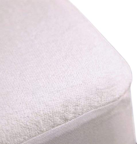 Trance Home Linen Cotton Terry Fabric Waterproof King Size Mattress Protector (White, 78×72-inch)