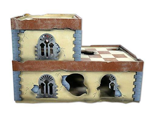 (Frontline Gaming - ITC Terrain - Damaged Urban Compact Building - Tabletop Miniatures Wargame 28mm Scenery Terrain)