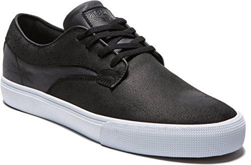 Hawk Footwear (Lakai Men's Riley Hawk Skate Shoe, Black Oiled Suede, 12 M US)