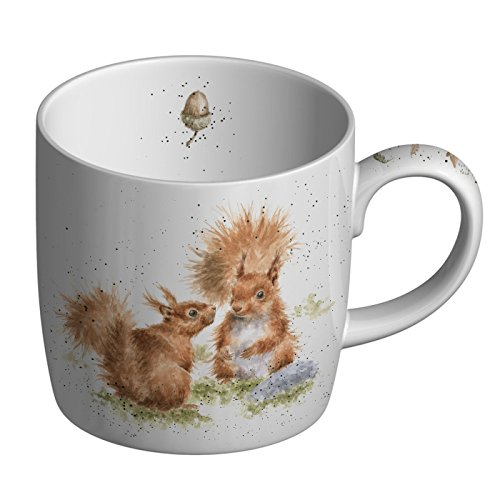 Wrendale Designs Between Friends (Squirrel) Fine Bone China Single Mug, Multi Coloured, 8 x 12 x 8 -