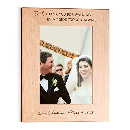 Lifetime Creations Personalized Father of The Bride Picture Frame (5