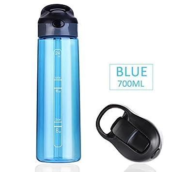Botella de agua de 700 ml Botellas de plástico para agua taza de agua Portable ,