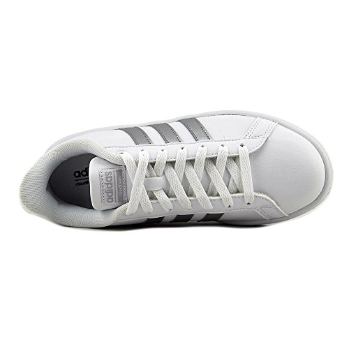 Adidas Neo Women's CF Advantage Sneaker, Ftwr White, Silver Met, Core Black, 8.5 M US