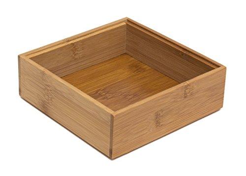 Lipper International 8183S Bamboo Wood Stacking Drawer Organizer Box, 6