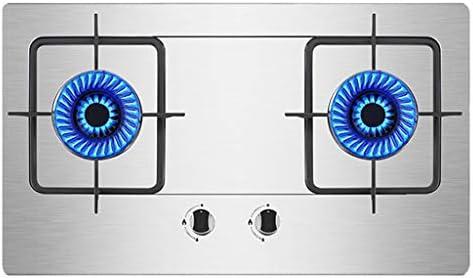 ガスストーブ/ガスコンロステンレスビルトインガスストーブ2バーナー鋳鉄火格子ストーブトップLPG / NGデュアル燃料熱電対保護と簡単にクレア