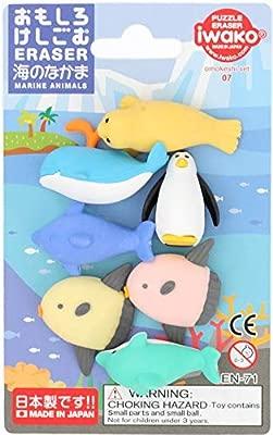 Iwako erasers marine animals 7 pieces set: Amazon.es ...