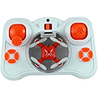 Toy Helicopter RC Quadcopter Drone 2.4GHz 4-Channel 6-Axis Gyro High Performance Fun (White/Red)