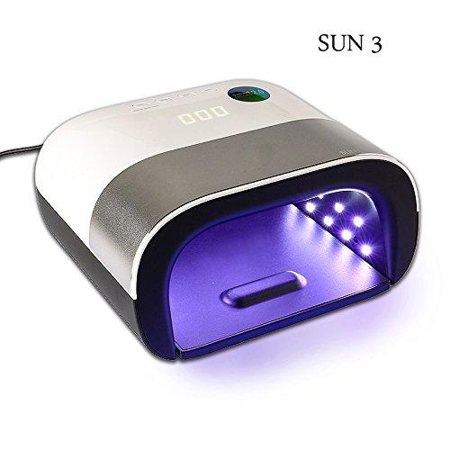 UV Lamp Nail SUN3 48W Menicure Led Lamp Nail Timer Invisible LCD Display Infrared Smart 2.0 Nail Dryer Curing All Nail Gel