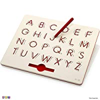 Play22 Magnetic Drawing Board - STEM Educational Learning ABC Letters Kids Drawing Board - Writing Board for Kids Erasable - Magnetic Doodle Board - Includes A Pen - Best Gift for Boys and Girls