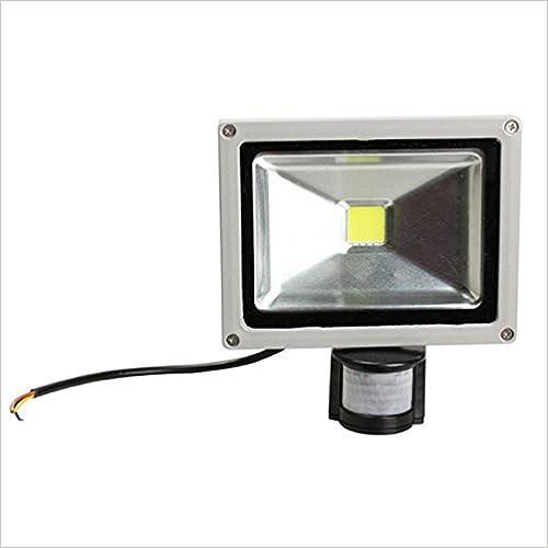 D/ämmerungssensor 10W 20W 30W 50W Licht: Kaltwei/ß MWS LED Flutlicht mit Bewegungsmelder