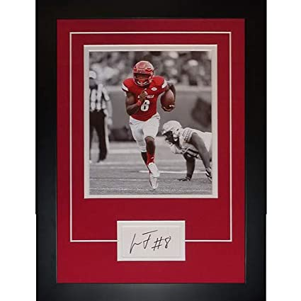 4b4a4e8ae Image Unavailable. Image not available for. Color  Lamar Jackson  Autographed Signed Auto Louisville Cardinals ...