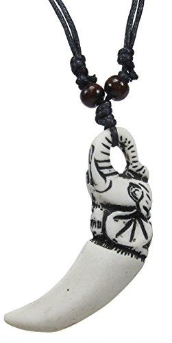 Elephant Necklace - Elephant Pendant with Adjustable Black Cord -Elephant Pendant Necklace