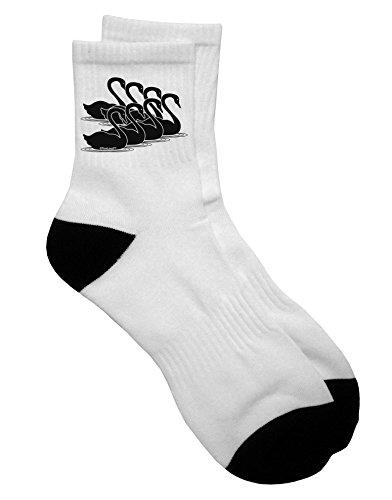 TooLoud Seven Swans A Swimming Adult Short Socks Mens sz. 9-13 ()