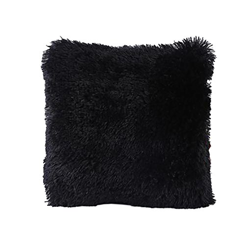 Soft Fur Plush Square Decor Throw Pillow Cover Case for Couch Sofa Bed Chair Pillowcase - Store Locator Tiffanys