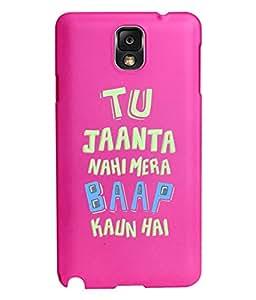 KolorEdge Back Cover For Samsung Galaxy Note 3 - Pink (5954-Ke15123SamNote3Pink3D)