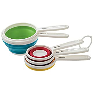 Prepworks by Progressive Collapsible Measuring Cups - Set of 5, Space Saving Collapsible, Great For Narrow Containers
