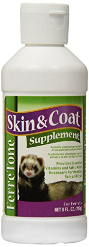 8 In 1 Pet Products Ferretone Skin & Coat Supplement, 8-Ounc