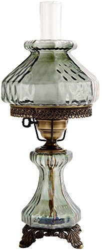 19 in. Rhombus Octagon Hurricane Table Lamp w 8 in. Shade by Summit Lamp