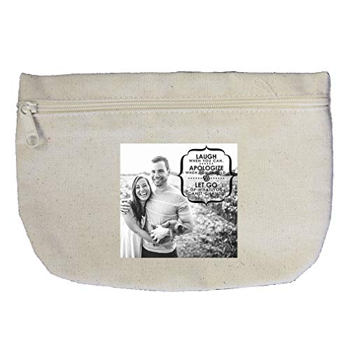 Couple in Love Holding Each Other #1 Cotton Canvas Makeup Bag Zippered Pouch by Style In Print