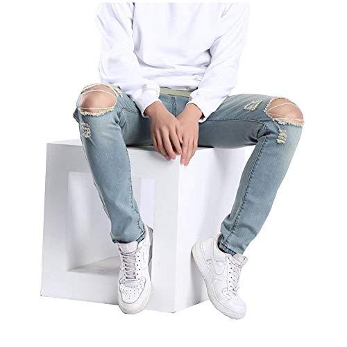 Jeans Vintage Ragazzi Uomo Fit Distrutto Strappato Hellblau13 Slim Pantaloni Stretch Holes Fashion Biker Classiche wqt7gXAIx7