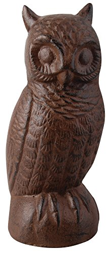 Esschert Design Cast Iron Decorative Owl, Large