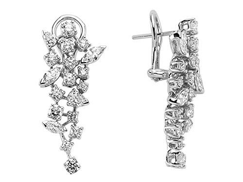 Boucles d'Oreilles Marquise Diamants-Femme- or Blanc 206E0022
