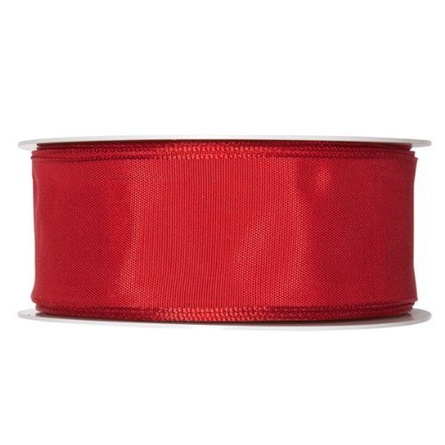 (FloristryWarehouse Fabric Ribbon Satin 1.5 inches wide x 27 yards Bright Red)