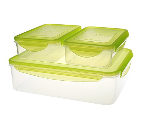 - Kinetic 49131 6-Piece Fresh Series Food Storage Container Set with Green Lids