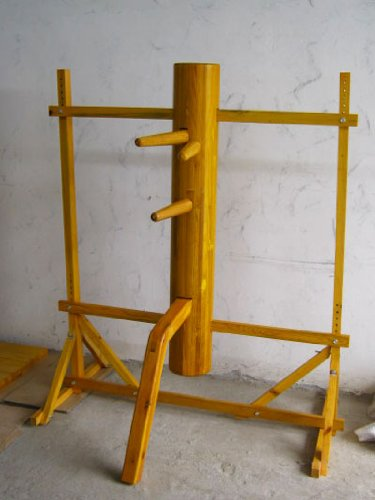 Traditional Ip Man Wing Chun Wooden Dummy with Stand -Solid Wooden Body
