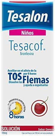 Tesalon Tesacof Jarabe para la tos Solución Infantil 80mg Frasco con 100ml
