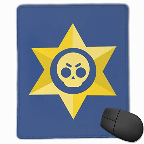 AVBER Mouse Pad Anti Slip Brawl Stars Sheriff Mouse Mat for Desktops Computer PC and Laptops, Cool Gaming Mouse Pad for Office and ()