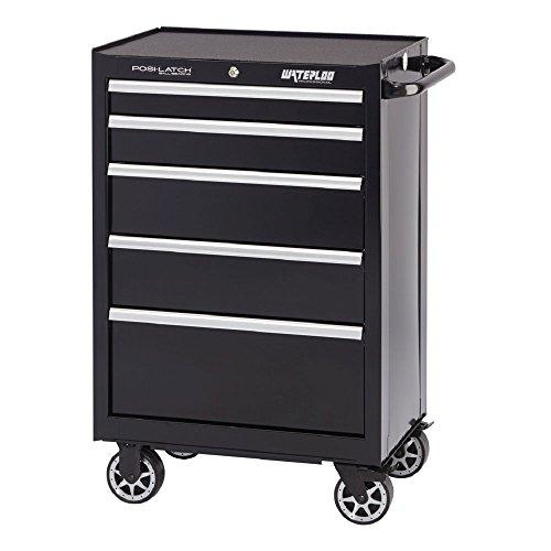 l Series 5-Drawer Rolling Tool Cabinet with Internal Tubular Keyed Locking System, Black Finish, 26