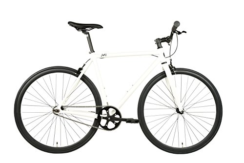 SXL Expressway Urban Track Bike Fixed/Single Speed (Pearl White, Large)