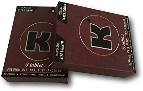 Maroon Big Black Original K Energy Enhacer Male Enhancement 8 Tablets 2
