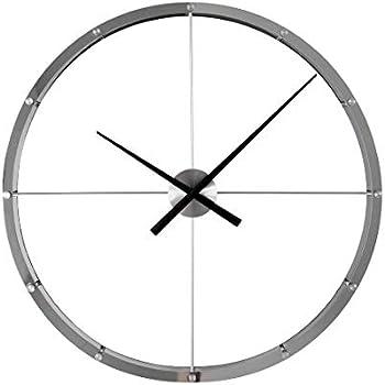 Amazon Com Stilnovo Sunburst Clock Silver Home Amp Kitchen