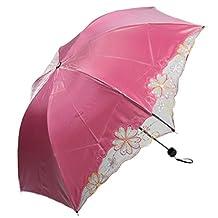 kilofly Anti-UV Folding Color Gradient Parasol Umbrella, UPF 40+